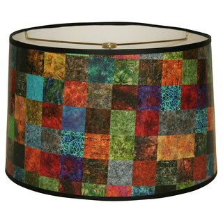 Royal Designs Colorful Square Patchwork Design10 x 10 x 8-inch Modern Trendy Decorative Handmade Lamp Shade