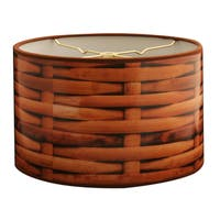 Royal Designs Wooden Basket Weave Design10 x 10 x 8-inch Modern Trendy Decorative Handmade Lamp Shade