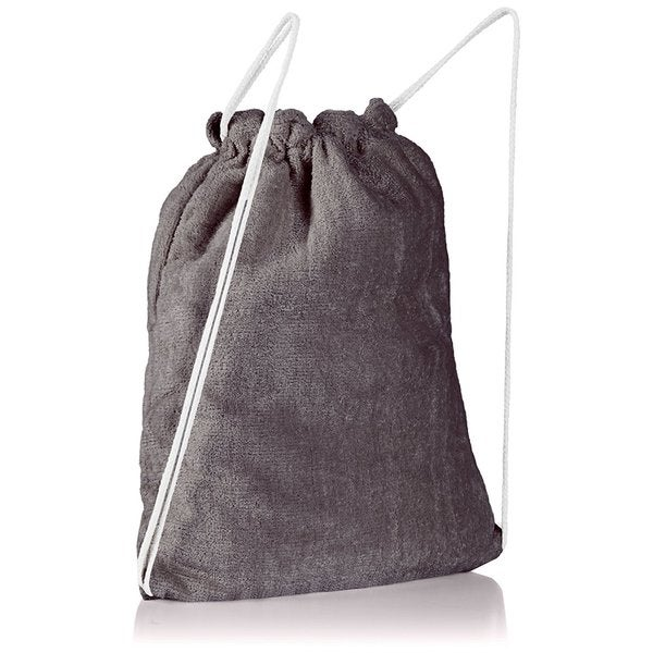 Clara Clark Cotton Beach Towel That Folds and Transformed To A Drawstring Backpack