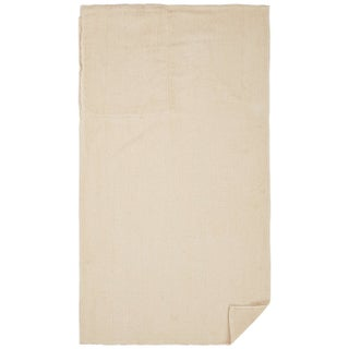 Clara Clark Cotton Beach Towel That Folds and Transformed To A Drawstring Backpack (Option: Beige/Cream)