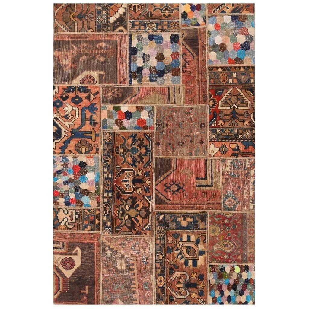 Handmade Herat Oriental Pak Persian Patchwork Wool Rug Stan 3 10 X 5