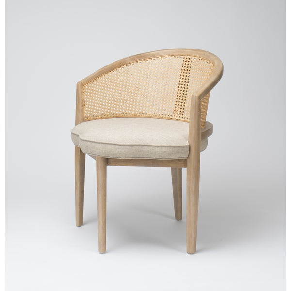 Shop Eloise Transitional Cream Accent Chair Free