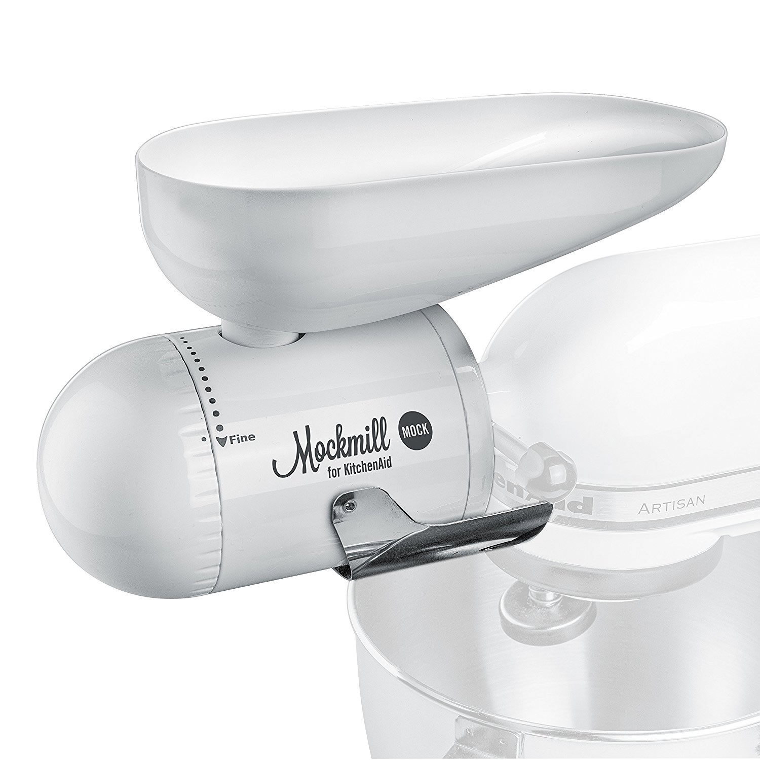Wolfgang Mock Mockmill KitchenAid White Metal and Ceramic...