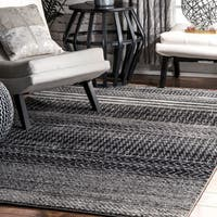 nuLOOM Contemporary Abstract Pattern Grey Runner Rug