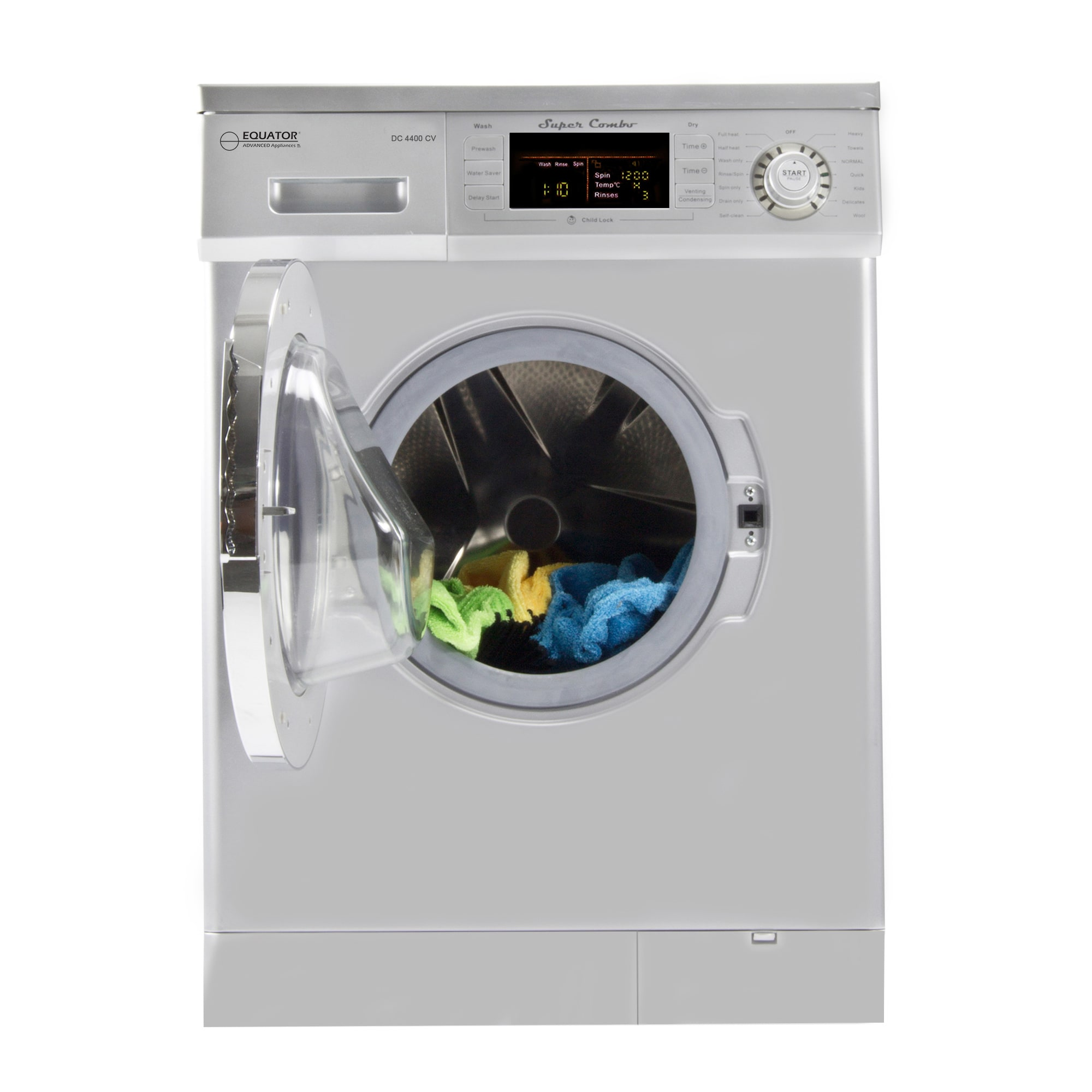 Equator 13 lbs All-in-One 1200 RPM Compact Combo Washer D...
