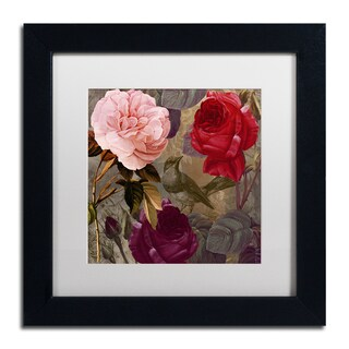 Color Bakery 'Birds and Roses' Matted Framed Art