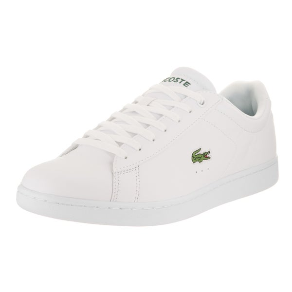efe1b7b290e2 Shop Lacoste Men s Carnaby Evo White Leather Casual Shoes - Free ...
