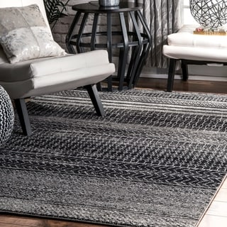 nuLOOM Contemporary Abstract Pattern Grey Rug (8' x 10')