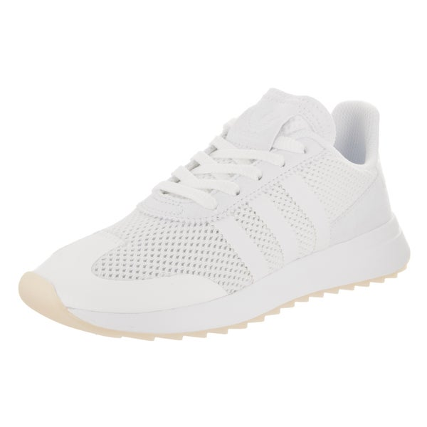 01e47cfb5 Shop Adidas Women s FLB White Faux Leather Running Shoe - Free ...