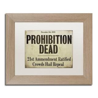 Color Bakery 'Prohibition' Matted Framed Art