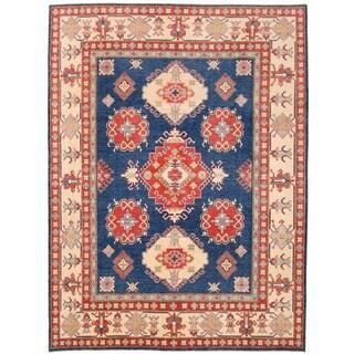 Herat Oriental Afghan Hand-knotted Vegetable Dye Kazak Wool Rug (8'11 x 12')