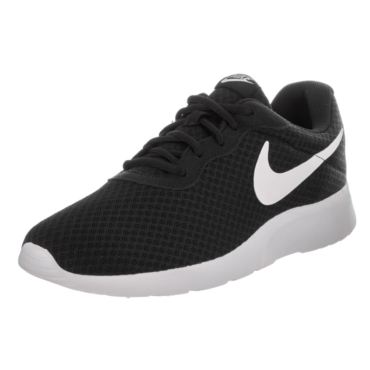 Nike Men's Tanjun Black Running Shoes (8) (leather)