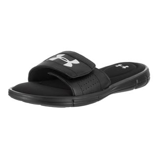 Under Armour Men's Ignite Black Leather Sandal