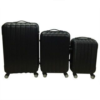 3-piece Black Hardside Spinner Luggage Set