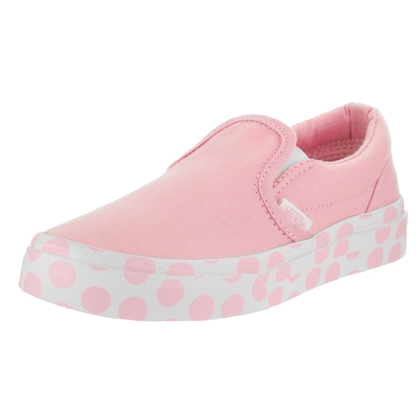 d56882ca42 Shop Vans Kid's Pink Canvas Classic Slip-on Polka Dot Skate Shoe ...