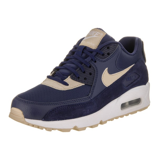 Shop Nike Women's Air Max 90 Blue Running Shoes - Free ...