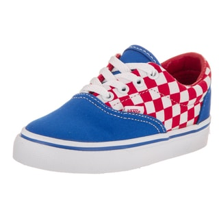 Vans Toddlers Era Red Canvas Checkerboard Skate Shoe