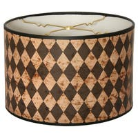 Royal Designs Vertical Black Diamond on Papyrus- 10 x 10 x 8-inch Modern Trendy Decorative Handmade Lamp Shade
