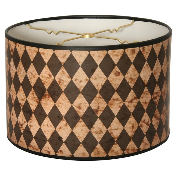 Royal Designs Vertical Black Diamond on Papyrus- 10 x 10 x 8-inch Modern Trendy Decorative Handmade Lamp Shade