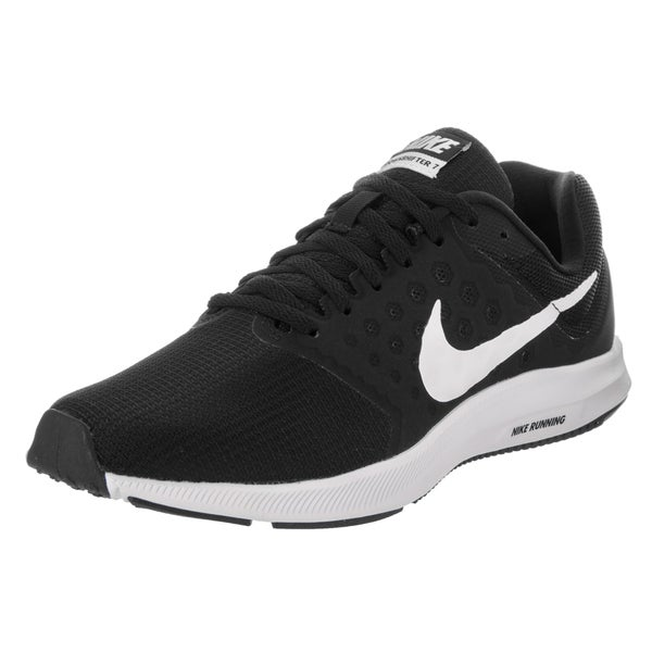 b84832751fa2a Nike Women  x27 s Downshifter 7 Black White Synthetic Leather Running Shoe