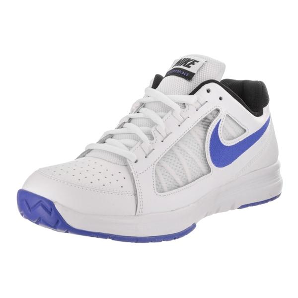 7524c60a9ff04 Shop Nike Men s Air Vapor Ace White Blue Leather Tennis Shoe - Free ...