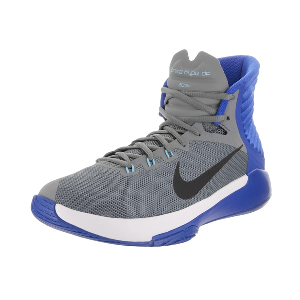 Shop Nike Men s Prime Hype DF 2016 Grey Basketball Shoes - Free ... 6c498db0a5a0