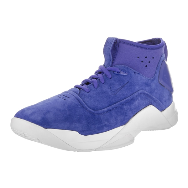 e5e1bfe5d3e3b Shop Nike Men s Hyperdunk Low Lux Blue Suede Basketball Shoes - Free ...
