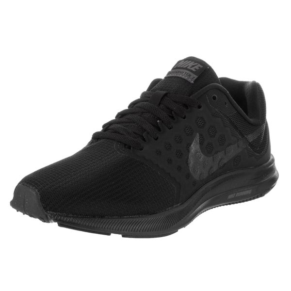Shop Nike Women's Downshifter 7 Black Running Shoe - Free ...