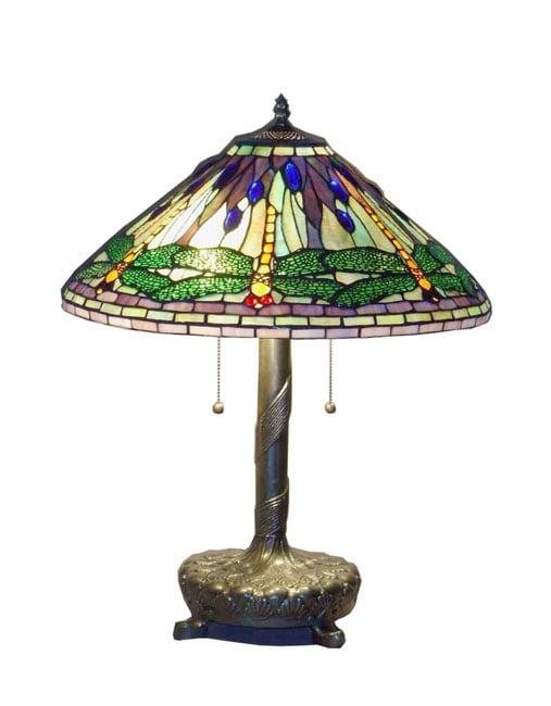 Serena ditalia tiffany style green dragonfly table lamp with serena dx27italia tiffany style green dragonfly table lamp with library base mozeypictures Gallery
