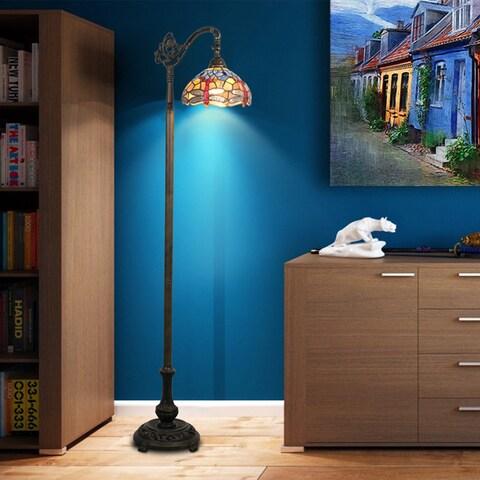 Tiffany-style Dragonfly Bridge Floor Lamp