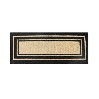 First Impression Beige/Black Coir 24 x 57 Doormat