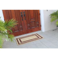 A1HC First Impression Terrance Classic Red Border Coir Engineered Anti-Shred 30-inch x 48-inch Doormat