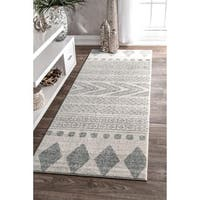 "nuLOOM Traditional Vintage Faded Grey Runner Rug (2'8 x 8') - 2'8"" x 8' runner"