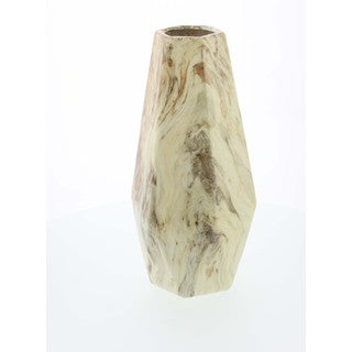 Uniquely Designed Vase With Marble Finish, Small