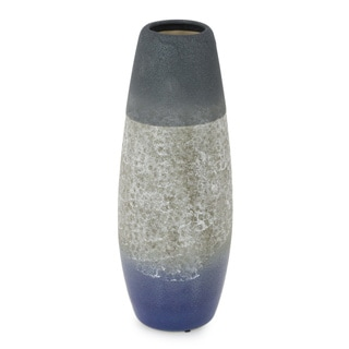 Large Ceramic Vase With Distressed Finish