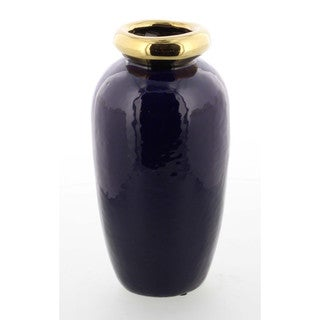 Large Glossy Classy Ceramic Metallic Vase