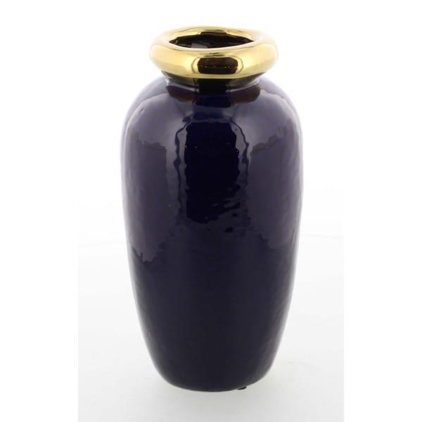Large Glossy Classy Ceramic Metallic Vase Free Shipping On Orders