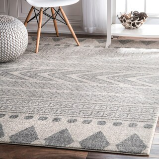 nuLOOM  Modern Stripes Faded Grey Rug (5' x7'5)