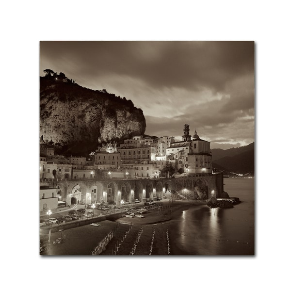 Alan Blaustein 'Atrani I' Canvas Art - Brown