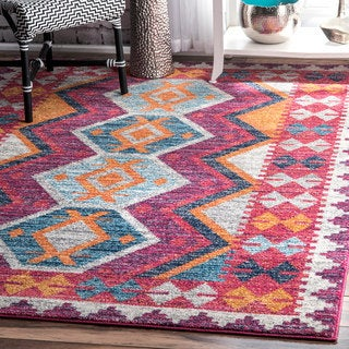 nuLOOM Modern Abstract Fancy Trellis Multi Rug (8' x 10')
