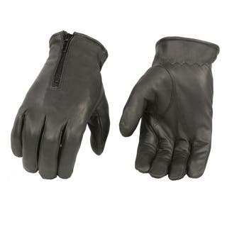 Men's Black Premium Leather Zippered Unlined Driving Gloves|https://ak1.ostkcdn.com/images/products/14984104/P21482070.jpg?impolicy=medium