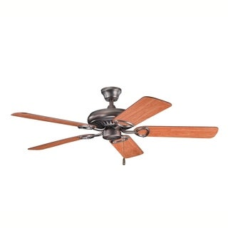 Kichler Lighting Sutter Place Collection 52-inch Oil Brushed Bronze Ceiling Fan - oil brushed bronze