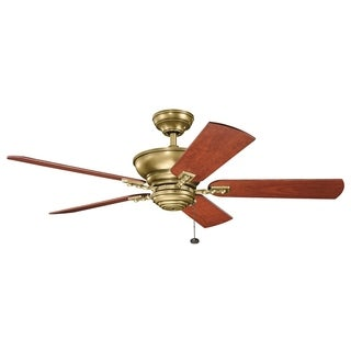 Kichler Lighting Graystone Collection 52-inch Natural Brass Ceiling Fan - natural brass