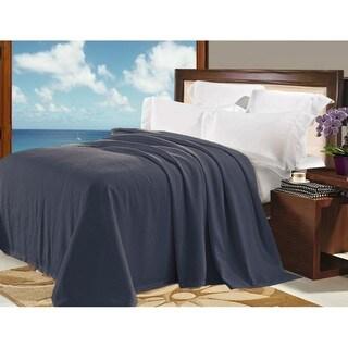 Natural Comfort Matelassé Blanket Coverlet in Purple Gray Pebble Pattern