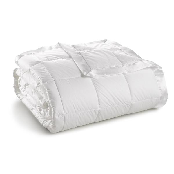 Sharper Image White Goose Down Blanket 550 Fill Power