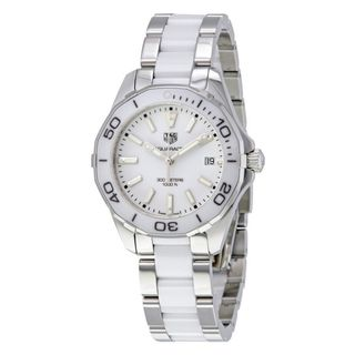 Link to Tag Heuer Women's WAY131B.BA0914 'Aquaracer' Two-Tone Stainless steel and Ceamic Watch Similar Items in Women's Watches