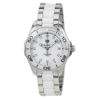 Tag Heuer Women's WAY131D.BA0914 'Aquaracer' Diamond Two-Tone Stainless steel and Ceamic Watch