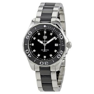 Tag Heuer Women's WAY131C.BA0913 'Aquaracer' Diamond Two-Tone Stainless steel and Ceamic Watch