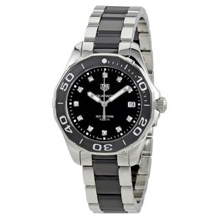 Tag Heuer Women's 'Aquaracer' Diamond Two-Tone Stainless steel and Ceamic Watch