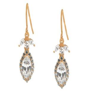 Michael Valitutti Palladium Silver Multi Shaped Cubic Zirconia Dangling Earrings